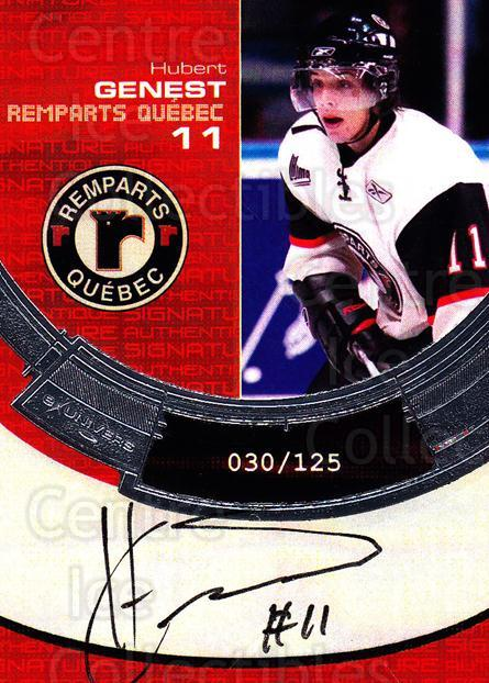 2006-07 Quebec Remparts Autographed #7 Hubert Genest<br/>1 In Stock - $5.00 each - <a href=https://centericecollectibles.foxycart.com/cart?name=2006-07%20Quebec%20Remparts%20Autographed%20%237%20Hubert%20Genest...&price=$5.00&code=669004 class=foxycart> Buy it now! </a>