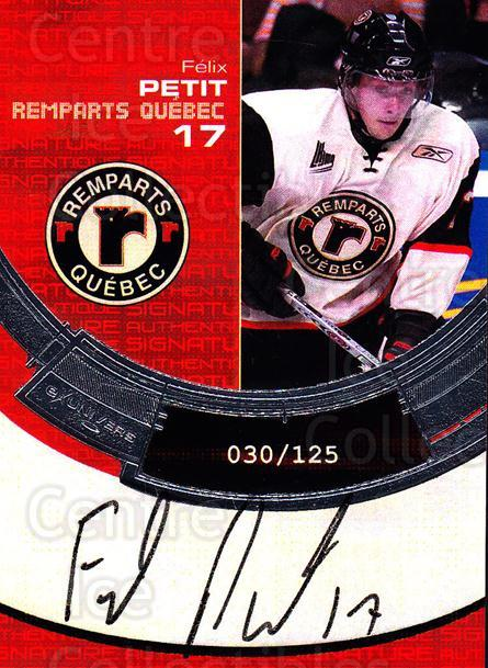 2006-07 Quebec Remparts Autographed #8 Felix Petit<br/>1 In Stock - $5.00 each - <a href=https://centericecollectibles.foxycart.com/cart?name=2006-07%20Quebec%20Remparts%20Autographed%20%238%20Felix%20Petit...&price=$5.00&code=669005 class=foxycart> Buy it now! </a>