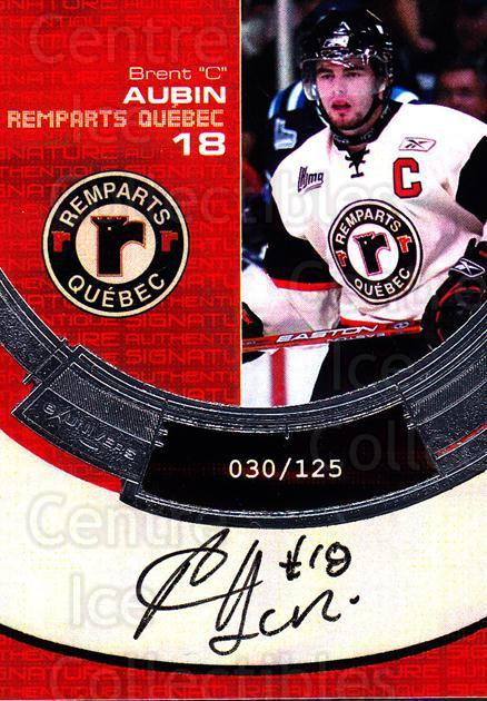 2006-07 Quebec Remparts Autographed #9 Brent Aubin<br/>1 In Stock - $5.00 each - <a href=https://centericecollectibles.foxycart.com/cart?name=2006-07%20Quebec%20Remparts%20Autographed%20%239%20Brent%20Aubin...&price=$5.00&code=669006 class=foxycart> Buy it now! </a>