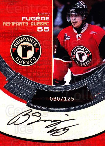 2006-07 Quebec Remparts Autographed #14 Boby Fugere<br/>1 In Stock - $5.00 each - <a href=https://centericecollectibles.foxycart.com/cart?name=2006-07%20Quebec%20Remparts%20Autographed%20%2314%20Boby%20Fugere...&price=$5.00&code=669013 class=foxycart> Buy it now! </a>