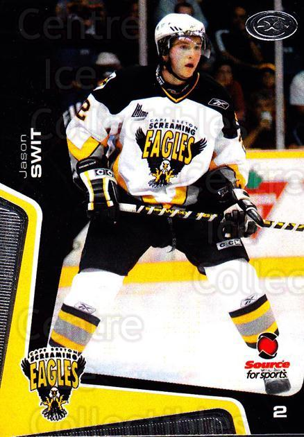 2005-06 Cape Breton Screaming Eagles #3 Jason Swit<br/>1 In Stock - $3.00 each - <a href=https://centericecollectibles.foxycart.com/cart?name=2005-06%20Cape%20Breton%20Screaming%20Eagles%20%233%20Jason%20Swit...&price=$3.00&code=669029 class=foxycart> Buy it now! </a>