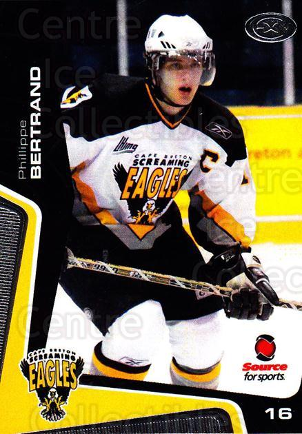 2005-06 Cape Breton Screaming Eagles #13 Philippe Bertrand<br/>1 In Stock - $3.00 each - <a href=https://centericecollectibles.foxycart.com/cart?name=2005-06%20Cape%20Breton%20Screaming%20Eagles%20%2313%20Philippe%20Bertra...&price=$3.00&code=669039 class=foxycart> Buy it now! </a>