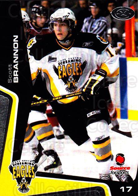 2005-06 Cape Breton Screaming Eagles #14 Scott Brannon<br/>1 In Stock - $3.00 each - <a href=https://centericecollectibles.foxycart.com/cart?name=2005-06%20Cape%20Breton%20Screaming%20Eagles%20%2314%20Scott%20Brannon...&price=$3.00&code=669040 class=foxycart> Buy it now! </a>