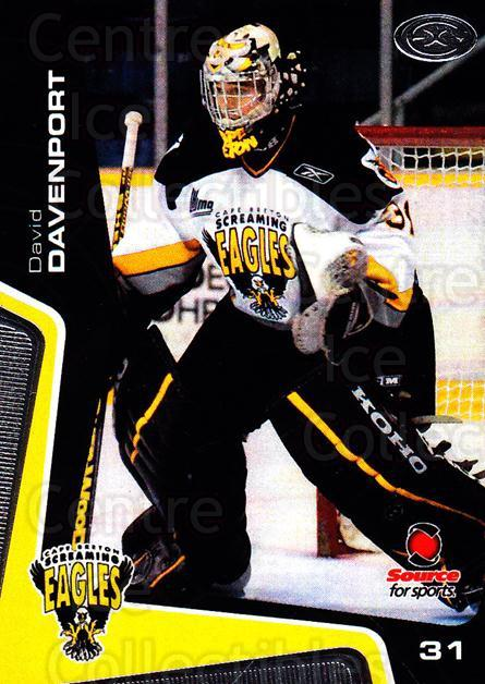 2005-06 Cape Breton Screaming Eagles #22 David Davenport<br/>1 In Stock - $3.00 each - <a href=https://centericecollectibles.foxycart.com/cart?name=2005-06%20Cape%20Breton%20Screaming%20Eagles%20%2322%20David%20Davenport...&price=$3.00&code=669048 class=foxycart> Buy it now! </a>