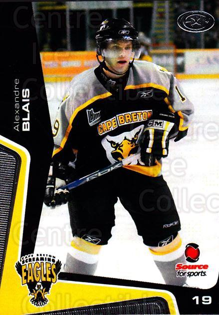 2005-06 Cape Breton Screaming Eagles #25 Alexandre Blais<br/>1 In Stock - $3.00 each - <a href=https://centericecollectibles.foxycart.com/cart?name=2005-06%20Cape%20Breton%20Screaming%20Eagles%20%2325%20Alexandre%20Blais...&price=$3.00&code=669051 class=foxycart> Buy it now! </a>