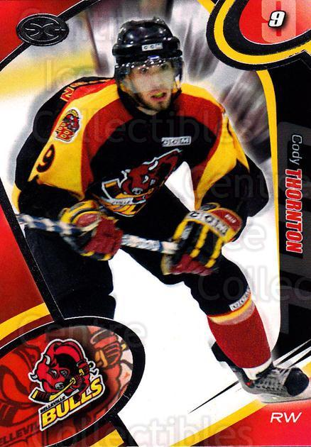 2004-05 Belleville Bulls #3 Cody Thornton<br/>1 In Stock - $3.00 each - <a href=https://centericecollectibles.foxycart.com/cart?name=2004-05%20Belleville%20Bulls%20%233%20Cody%20Thornton...&price=$3.00&code=669063 class=foxycart> Buy it now! </a>