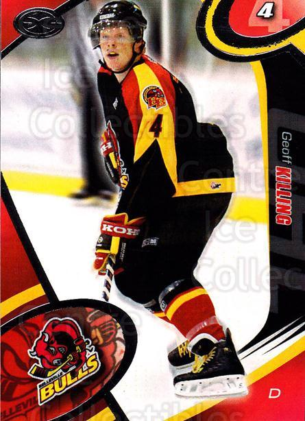 2004-05 Belleville Bulls #8 Geoff Killing<br/>1 In Stock - $3.00 each - <a href=https://centericecollectibles.foxycart.com/cart?name=2004-05%20Belleville%20Bulls%20%238%20Geoff%20Killing...&price=$3.00&code=669068 class=foxycart> Buy it now! </a>