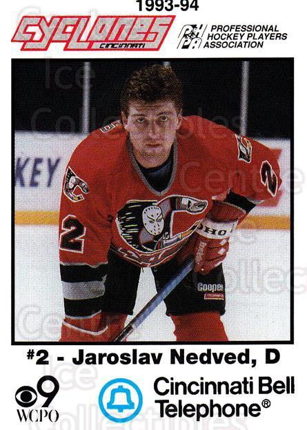 1993-94 Cincinnati Cyclones #18 Jaroslav Nedved<br/>3 In Stock - $3.00 each - <a href=https://centericecollectibles.foxycart.com/cart?name=1993-94%20Cincinnati%20Cyclones%20%2318%20Jaroslav%20Nedved...&quantity_max=3&price=$3.00&code=669093 class=foxycart> Buy it now! </a>