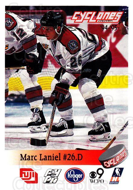 1994-95 Cincinnati Cyclones #18 Marc Laniel<br/>1 In Stock - $3.00 each - <a href=https://centericecollectibles.foxycart.com/cart?name=1994-95%20Cincinnati%20Cyclones%20%2318%20Marc%20Laniel...&quantity_max=1&price=$3.00&code=669112 class=foxycart> Buy it now! </a>