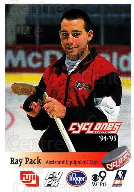 1994-95 Cincinnati Cyclones #24 Ray Pack<br/>1 In Stock - $3.00 each - <a href=https://centericecollectibles.foxycart.com/cart?name=1994-95%20Cincinnati%20Cyclones%20%2324%20Ray%20Pack...&quantity_max=1&price=$3.00&code=669118 class=foxycart> Buy it now! </a>