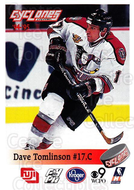 1994-95 Cincinnati Cyclones #27 Dave Tomlinson<br/>1 In Stock - $3.00 each - <a href=https://centericecollectibles.foxycart.com/cart?name=1994-95%20Cincinnati%20Cyclones%20%2327%20Dave%20Tomlinson...&quantity_max=1&price=$3.00&code=669121 class=foxycart> Buy it now! </a>