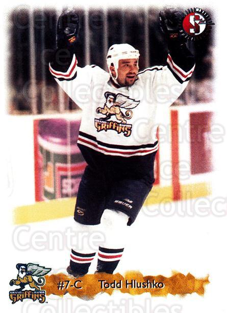 1998-99 Grand Rapids Griffins #9 Todd Hlushko<br/>1 In Stock - $3.00 each - <a href=https://centericecollectibles.foxycart.com/cart?name=1998-99%20Grand%20Rapids%20Griffins%20%239%20Todd%20Hlushko...&price=$3.00&code=669184 class=foxycart> Buy it now! </a>