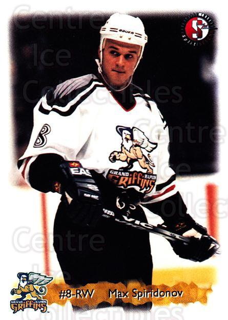 1998-99 Grand Rapids Griffins #19 Max Spiridonov<br/>1 In Stock - $3.00 each - <a href=https://centericecollectibles.foxycart.com/cart?name=1998-99%20Grand%20Rapids%20Griffins%20%2319%20Max%20Spiridonov...&price=$3.00&code=669186 class=foxycart> Buy it now! </a>
