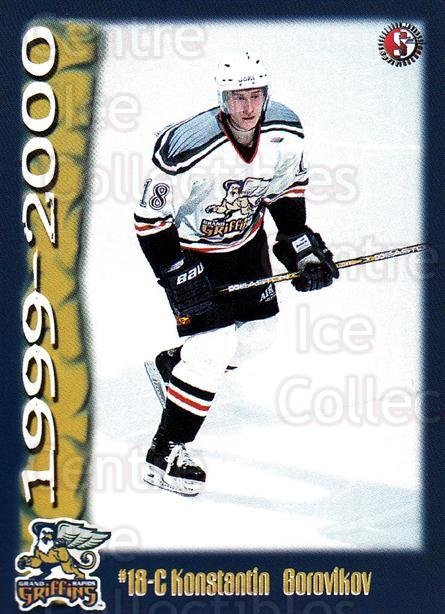 1999-00 Grand Rapids Griffins #8 Konstantin Borovikov<br/>1 In Stock - $3.00 each - <a href=https://centericecollectibles.foxycart.com/cart?name=1999-00%20Grand%20Rapids%20Griffins%20%238%20Konstantin%20Boro...&price=$3.00&code=669188 class=foxycart> Buy it now! </a>