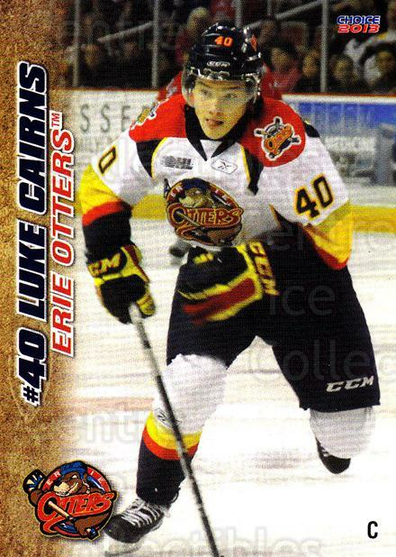 2012-13 Erie Otters #5 Luke Cairns<br/>7 In Stock - $3.00 each - <a href=https://centericecollectibles.foxycart.com/cart?name=2012-13%20Erie%20Otters%20%235%20Luke%20Cairns...&price=$3.00&code=669259 class=foxycart> Buy it now! </a>