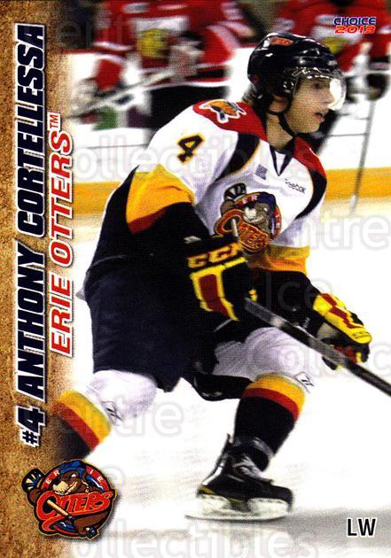 2012-13 Erie Otters #6 Anthony Cortellessa<br/>7 In Stock - $3.00 each - <a href=https://centericecollectibles.foxycart.com/cart?name=2012-13%20Erie%20Otters%20%236%20Anthony%20Cortell...&price=$3.00&code=669260 class=foxycart> Buy it now! </a>