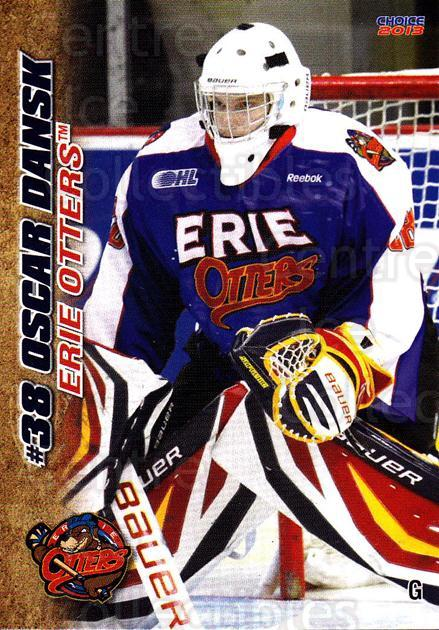 2012-13 Erie Otters #7 Oscar Dansk<br/>6 In Stock - $3.00 each - <a href=https://centericecollectibles.foxycart.com/cart?name=2012-13%20Erie%20Otters%20%237%20Oscar%20Dansk...&price=$3.00&code=669261 class=foxycart> Buy it now! </a>