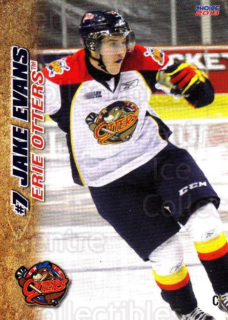 2012-13 Erie Otters #9 Jake Evans<br/>5 In Stock - $3.00 each - <a href=https://centericecollectibles.foxycart.com/cart?name=2012-13%20Erie%20Otters%20%239%20Jake%20Evans...&price=$3.00&code=669263 class=foxycart> Buy it now! </a>