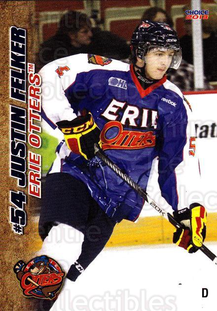 2012-13 Erie Otters #10 Justin Felker<br/>7 In Stock - $3.00 each - <a href=https://centericecollectibles.foxycart.com/cart?name=2012-13%20Erie%20Otters%20%2310%20Justin%20Felker...&quantity_max=7&price=$3.00&code=669264 class=foxycart> Buy it now! </a>