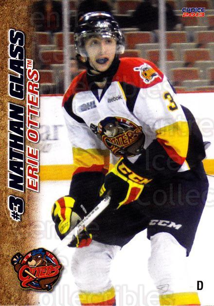 2012-13 Erie Otters #12 Nathan Glass<br/>7 In Stock - $3.00 each - <a href=https://centericecollectibles.foxycart.com/cart?name=2012-13%20Erie%20Otters%20%2312%20Nathan%20Glass...&price=$3.00&code=669266 class=foxycart> Buy it now! </a>