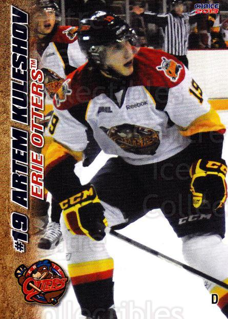 2012-13 Erie Otters #15 Artem Kuleshov<br/>7 In Stock - $3.00 each - <a href=https://centericecollectibles.foxycart.com/cart?name=2012-13%20Erie%20Otters%20%2315%20Artem%20Kuleshov...&price=$3.00&code=669269 class=foxycart> Buy it now! </a>