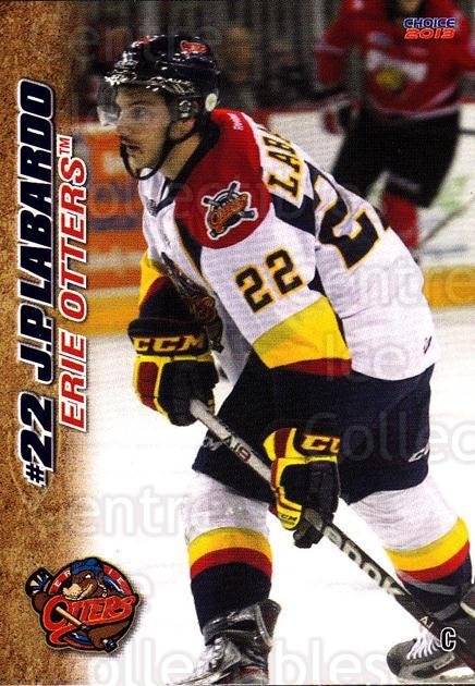 2012-13 Erie Otters #16 JP Labardo<br/>7 In Stock - $3.00 each - <a href=https://centericecollectibles.foxycart.com/cart?name=2012-13%20Erie%20Otters%20%2316%20JP%20Labardo...&price=$3.00&code=669270 class=foxycart> Buy it now! </a>