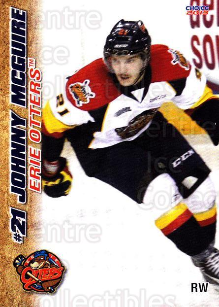2012-13 Erie Otters #18 Johnny McGuire<br/>7 In Stock - $3.00 each - <a href=https://centericecollectibles.foxycart.com/cart?name=2012-13%20Erie%20Otters%20%2318%20Johnny%20McGuire...&price=$3.00&code=669272 class=foxycart> Buy it now! </a>