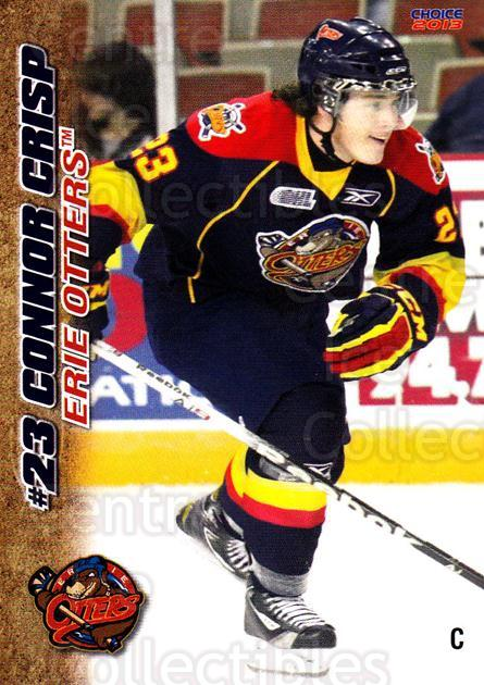2012-13 Erie Otters #23 Connor Crisp<br/>7 In Stock - $3.00 each - <a href=https://centericecollectibles.foxycart.com/cart?name=2012-13%20Erie%20Otters%20%2323%20Connor%20Crisp...&price=$3.00&code=669277 class=foxycart> Buy it now! </a>