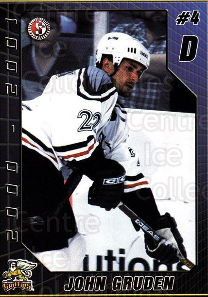 2000-01 Grand Rapids Griffins #10 John Gruden<br/>1 In Stock - $3.00 each - <a href=https://centericecollectibles.foxycart.com/cart?name=2000-01%20Grand%20Rapids%20Griffins%20%2310%20John%20Gruden...&price=$3.00&code=669280 class=foxycart> Buy it now! </a>