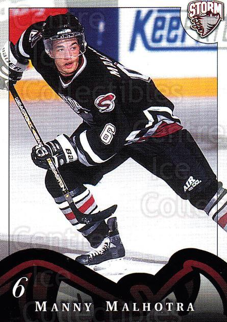 1997-98 Guelph Storm #8 Manny Malhotra<br/>1 In Stock - $3.00 each - <a href=https://centericecollectibles.foxycart.com/cart?name=1997-98%20Guelph%20Storm%20%238%20Manny%20Malhotra...&quantity_max=1&price=$3.00&code=669289 class=foxycart> Buy it now! </a>