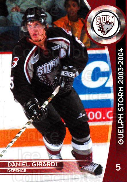 2003-04 Guelph Storm #3 Daniel Girardi<br/>1 In Stock - $5.00 each - <a href=https://centericecollectibles.foxycart.com/cart?name=2003-04%20Guelph%20Storm%20%233%20Daniel%20Girardi...&quantity_max=1&price=$5.00&code=669325 class=foxycart> Buy it now! </a>