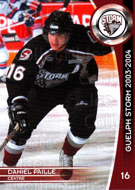 2003-04 Guelph Storm #12 Daniel Paille<br/>1 In Stock - $3.00 each - <a href=https://centericecollectibles.foxycart.com/cart?name=2003-04%20Guelph%20Storm%20%2312%20Daniel%20Paille...&quantity_max=1&price=$3.00&code=669327 class=foxycart> Buy it now! </a>