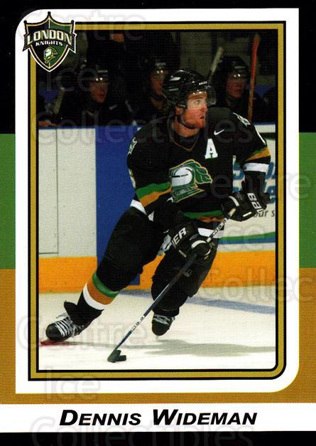 2002-03 London Knights #2 Dennis Wideman<br/>10 In Stock - $3.00 each - <a href=https://centericecollectibles.foxycart.com/cart?name=2002-03%20London%20Knights%20%232%20Dennis%20Wideman...&quantity_max=10&price=$3.00&code=669333 class=foxycart> Buy it now! </a>