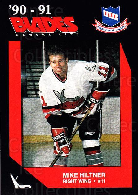1990-91 Kansas City Blades #13 Mike Hiltner<br/>1 In Stock - $3.00 each - <a href=https://centericecollectibles.foxycart.com/cart?name=1990-91%20Kansas%20City%20Blades%20%2313%20Mike%20Hiltner...&quantity_max=1&price=$3.00&code=669369 class=foxycart> Buy it now! </a>
