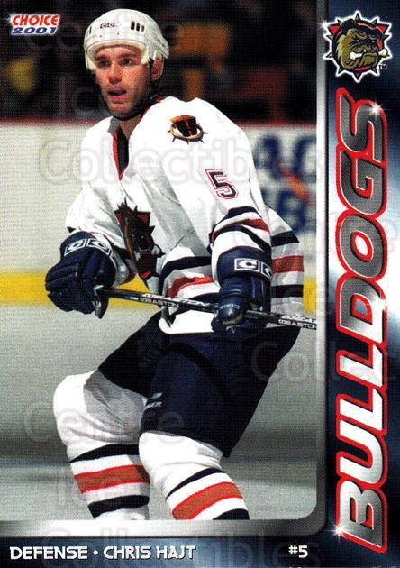 2000-01 Hamilton Bulldogs #5 Chris Hajt<br/>1 In Stock - $3.00 each - <a href=https://centericecollectibles.foxycart.com/cart?name=2000-01%20Hamilton%20Bulldogs%20%235%20Chris%20Hajt...&quantity_max=1&price=$3.00&code=669408 class=foxycart> Buy it now! </a>