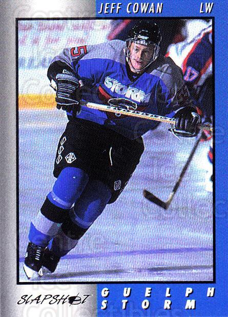 1994-95 Guelph Storm #23 Jeff Cowan<br/>1 In Stock - $3.00 each - <a href=https://centericecollectibles.foxycart.com/cart?name=1994-95%20Guelph%20Storm%20%2323%20Jeff%20Cowan...&quantity_max=1&price=$3.00&code=669442 class=foxycart> Buy it now! </a>
