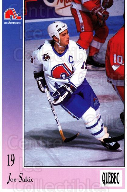 1991-92 Quebec Nordiques Postcards #28 Joe Sakic<br/>1 In Stock - $10.00 each - <a href=https://centericecollectibles.foxycart.com/cart?name=1991-92%20Quebec%20Nordiques%20Postcards%20%2328%20Joe%20Sakic...&price=$10.00&code=669468 class=foxycart> Buy it now! </a>