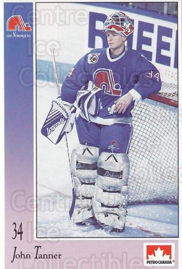 1992-93 Quebec Nordiques Petro-Canada #50 John Tanner<br/>1 In Stock - $3.00 each - <a href=https://centericecollectibles.foxycart.com/cart?name=1992-93%20Quebec%20Nordiques%20Petro-Canada%20%2350%20John%20Tanner...&quantity_max=1&price=$3.00&code=669509 class=foxycart> Buy it now! </a>