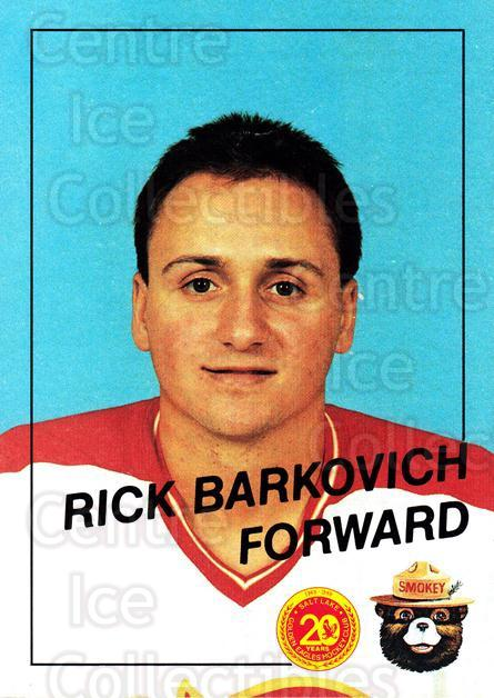 1988-89 Salt Lake Golden Eagles #1 Rick Barkovich<br/>1 In Stock - $3.00 each - <a href=https://centericecollectibles.foxycart.com/cart?name=1988-89%20Salt%20Lake%20Golden%20Eagles%20%231%20Rick%20Barkovich...&quantity_max=1&price=$3.00&code=669959 class=foxycart> Buy it now! </a>