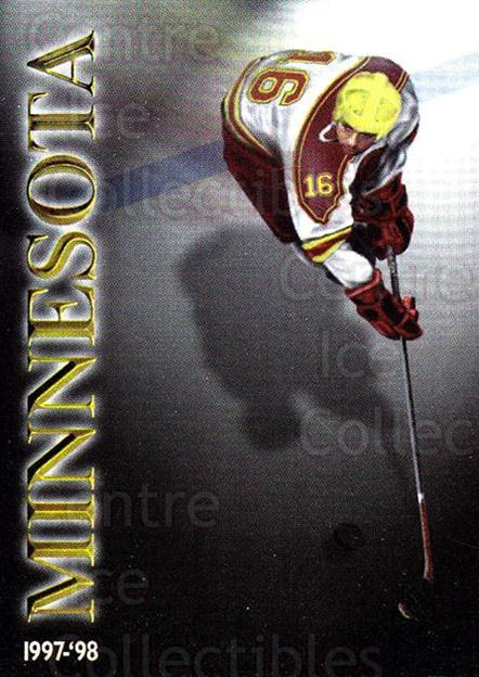 1997-98 Minnesota Golden Gophers #1 Checklist<br/>1 In Stock - $3.00 each - <a href=https://centericecollectibles.foxycart.com/cart?name=1997-98%20Minnesota%20Golden%20Gophers%20%231%20Checklist...&quantity_max=1&price=$3.00&code=669995 class=foxycart> Buy it now! </a>