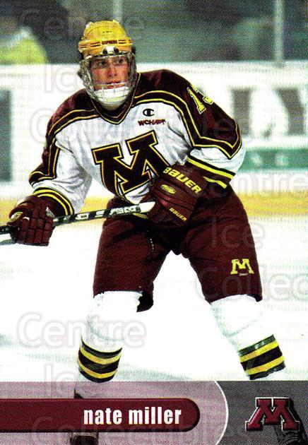 1997-98 Minnesota Golden Gophers #6 Nate Miller<br/>1 In Stock - $3.00 each - <a href=https://centericecollectibles.foxycart.com/cart?name=1997-98%20Minnesota%20Golden%20Gophers%20%236%20Nate%20Miller...&quantity_max=1&price=$3.00&code=670000 class=foxycart> Buy it now! </a>