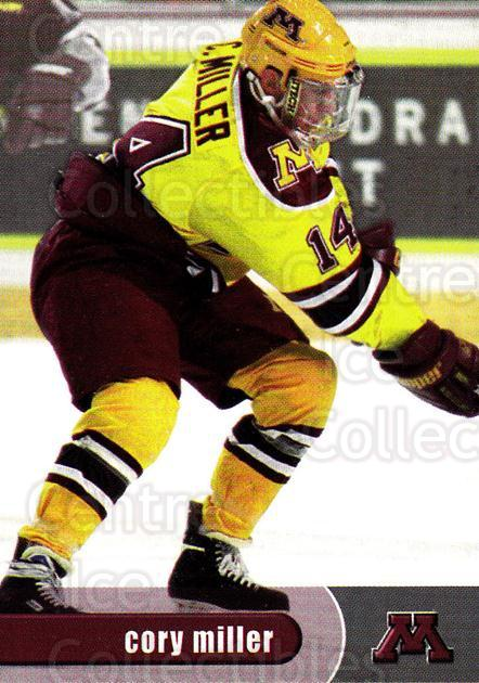 1997-98 Minnesota Golden Gophers #10 Cory Miller<br/>1 In Stock - $3.00 each - <a href=https://centericecollectibles.foxycart.com/cart?name=1997-98%20Minnesota%20Golden%20Gophers%20%2310%20Cory%20Miller...&quantity_max=1&price=$3.00&code=670004 class=foxycart> Buy it now! </a>