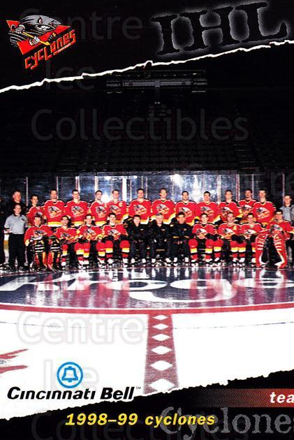 1998-99 Cincinnati Cyclones #23 Cincinnati Cyclones, Team Photo<br/>2 In Stock - $2.00 each - <a href=https://centericecollectibles.foxycart.com/cart?name=1998-99%20Cincinnati%20Cyclones%20%2323%20Cincinnati%20Cycl...&price=$2.00&code=67000 class=foxycart> Buy it now! </a>