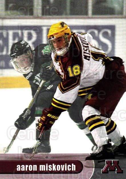 1997-98 Minnesota Golden Gophers #22 Aaron Miskovich<br/>1 In Stock - $3.00 each - <a href=https://centericecollectibles.foxycart.com/cart?name=1997-98%20Minnesota%20Golden%20Gophers%20%2322%20Aaron%20Miskovich...&quantity_max=1&price=$3.00&code=670016 class=foxycart> Buy it now! </a>