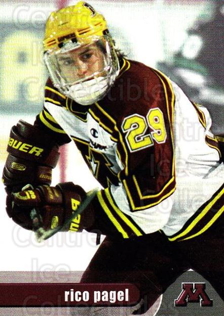 1997-98 Minnesota Golden Gophers #23 Rico Pagel<br/>1 In Stock - $3.00 each - <a href=https://centericecollectibles.foxycart.com/cart?name=1997-98%20Minnesota%20Golden%20Gophers%20%2323%20Rico%20Pagel...&quantity_max=1&price=$3.00&code=670017 class=foxycart> Buy it now! </a>