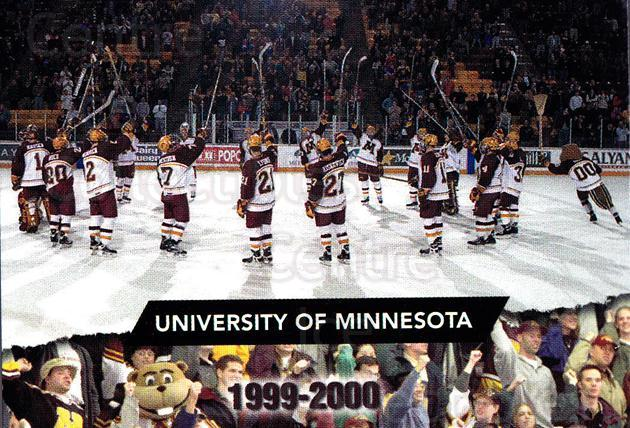 1999-00 Minnesota Golden Gophers #1 Team Photo<br/>1 In Stock - $2.00 each - <a href=https://centericecollectibles.foxycart.com/cart?name=1999-00%20Minnesota%20Golden%20Gophers%20%231%20Team%20Photo...&price=$2.00&code=670021 class=foxycart> Buy it now! </a>