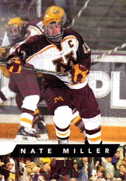 1999-00 Minnesota Golden Gophers #14 Nate Miller<br/>1 In Stock - $3.00 each - <a href=https://centericecollectibles.foxycart.com/cart?name=1999-00%20Minnesota%20Golden%20Gophers%20%2314%20Nate%20Miller...&quantity_max=1&price=$3.00&code=670034 class=foxycart> Buy it now! </a>