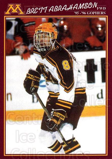1995-96 Minnesota Golden Gophers #3 Brett Abrahamson<br/>1 In Stock - $3.00 each - <a href=https://centericecollectibles.foxycart.com/cart?name=1995-96%20Minnesota%20Golden%20Gophers%20%233%20Brett%20Abrahamso...&quantity_max=1&price=$3.00&code=670082 class=foxycart> Buy it now! </a>
