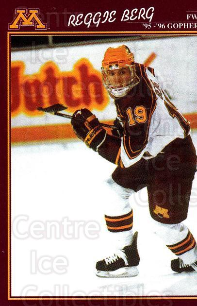 1995-96 Minnesota Golden Gophers #5 Reggie Berg<br/>1 In Stock - $3.00 each - <a href=https://centericecollectibles.foxycart.com/cart?name=1995-96%20Minnesota%20Golden%20Gophers%20%235%20Reggie%20Berg...&quantity_max=1&price=$3.00&code=670084 class=foxycart> Buy it now! </a>