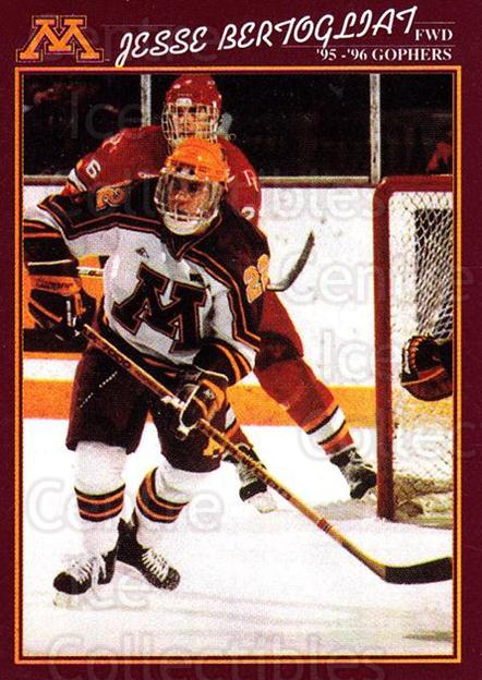 1995-96 Minnesota Golden Gophers #6 Jesse Bertogliat<br/>1 In Stock - $3.00 each - <a href=https://centericecollectibles.foxycart.com/cart?name=1995-96%20Minnesota%20Golden%20Gophers%20%236%20Jesse%20Bertoglia...&quantity_max=1&price=$3.00&code=670085 class=foxycart> Buy it now! </a>